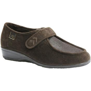 Sapatos Mulher Mocassins Doctor Cutillas Sapatos de velcro pés muito delicados Cutillas Doctor Brown marrón