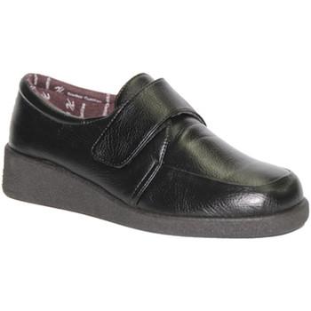 Sapatos Mulher Mocassins Doctor Cutillas Velcro Shoe  pés delicados em preto negro