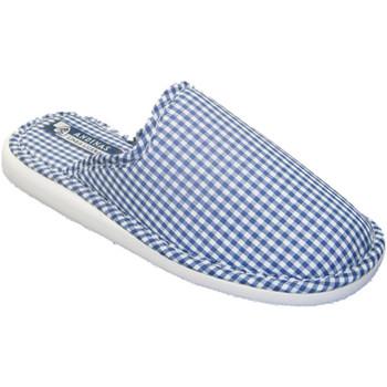 Sapatos Mulher Chinelos Andinas Fechado motivo toe chinelo toalha em gingham marinha Andina azul