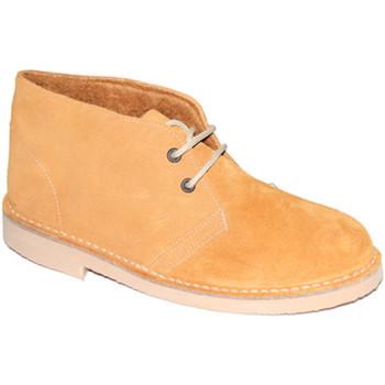 Sapatos Homem Botas baixas El Corzo Botas forradas em camel safari marrón