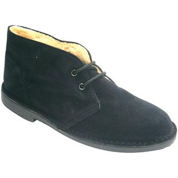 Sapatos Homem Botas baixas El Corzo Botas forradas em safari preto negro