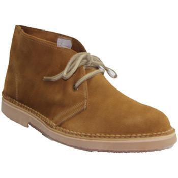 Sapatos Homem Botas baixas El Corzo Bota camel safari em sem forro marrón