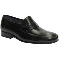 Sapatos Homem Mocassins Made In Spain 1940 Muito grande sapato sem atacadores em pr negro