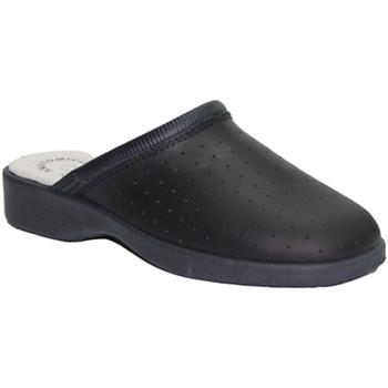 Sapatos Mulher Tamancos Made In Spain 1940 Trabalho Clog na Marinha Cruan couro azul