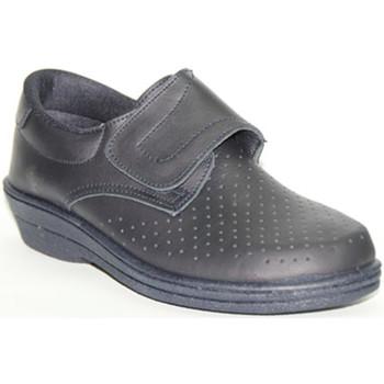 Sapatos Mulher Mocassins Farma Clog pele trabalho velcro  na Marinha azul