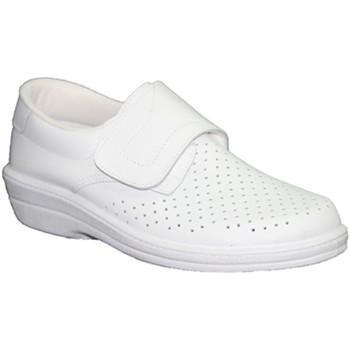Sapatos Mulher Mocassins Farma Clog trabalho no branco  velcro pele blanco