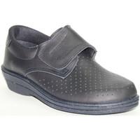 Sapatos Homem Mocassins Farma Trabalho Clog cavalheiro velcro pele  em azul escuro azul