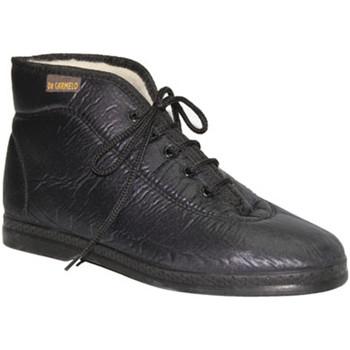 Sapatos Mulher Sapatilhas de cano-alto De Carmelo Bota tecido imitando em preto Materiais negro