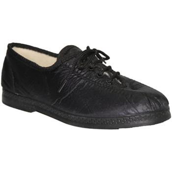 Sapatos Mulher Richelieu De Carmelo Sapato de Lona  materiais imitando em preto negro