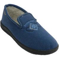 Sapatos Mulher Chinelos Muro Fechado Chinelo em parede azul azul