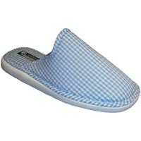 Sapatos Mulher Chinelos Andinas Fechado toe chinelo toalha vichy motivo no céu andino azul