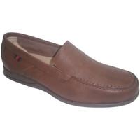 Sapatos Homem Mocassins Made In Spain 1940 Sapato verão único clayan couro borracha marrón