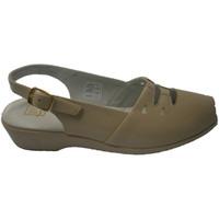 Sapatos Mulher Sandálias Doctor Cutillas Sandália com borracha na biqueira com fo beige