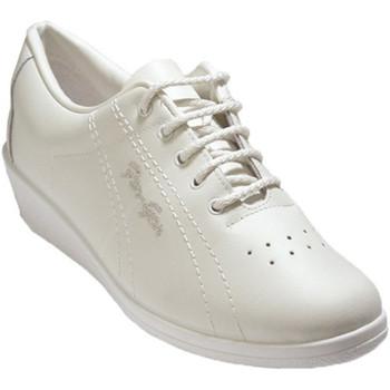 Sapatos Mulher Sapatilhas Made In Spain 1940 Deportivo senhora cordões de couro cunha blanco