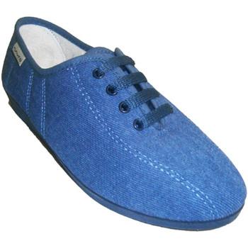 Sapatos Mulher Chinelos Muro Cadarços cunha parede no Texas azul
