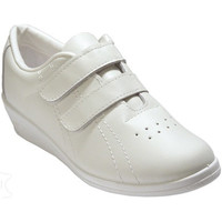 Sapatos Mulher Sapatilhas Made In Spain 1940 Deportivo senhora velcro cunha pele bran blanco