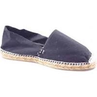 Sapatos Alpargatas Made In Spain 1940 Esparto esparto alpercatas planas em pre negro