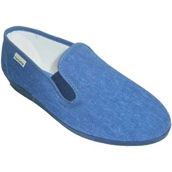 Sapatos Mulher Chinelos Muro Sneaker clássico com  baixo cunha no azul