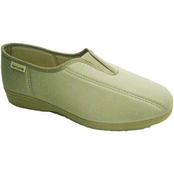 Sapatos Mulher Slip on Muro sapato Lycra com borracha na parede do p beige