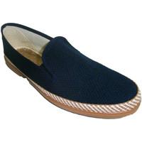 Sapatos Homem Chinelos Made In Spain 1940 Sapata de lona Soca na marinha azul