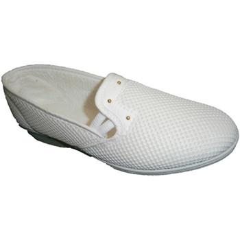 Sapatos Mulher Slip on Made In Spain 1940 0 Soca em branco blanco