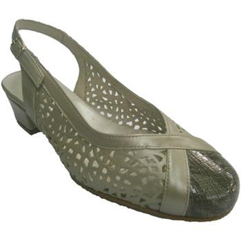 Sapatos Mulher Sandálias Roldán Sapatos em couro metálico gris