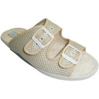 Sapatos Mulher Chinelos Made In Spain 1940 Grade com tanga fivela dupla em bege Alb beige