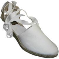 Sapatos Mulher Alpargatas Andinas Perna sapatos Valencia cunha amarrado mí blanco