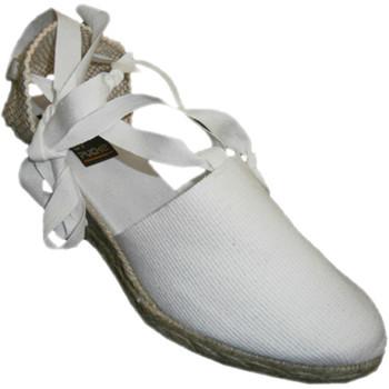 Sapatos Mulher Alpargatas Andinas Perna sapatos Valencia cunha amarrado mídia em branco Andina blanco