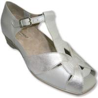 Sapatos Mulher Sandálias Piesanto Sandálias e aberto fechado atrás da ponta combinado e bege metál beige