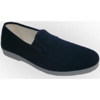 Sapatos Homem Chinelos Chapines Sapatas de lona com laterais de borracha azul