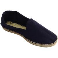Sapatos Homem Alpargatas Made In Spain 1940 Sandálias de cânhamo tecido espinha de p azul