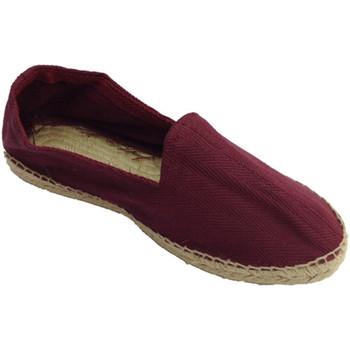 Sapatos Homem Alpargatas Made In Spain 1940 Sandálias de cânhamo tecido espinha de p burdeos