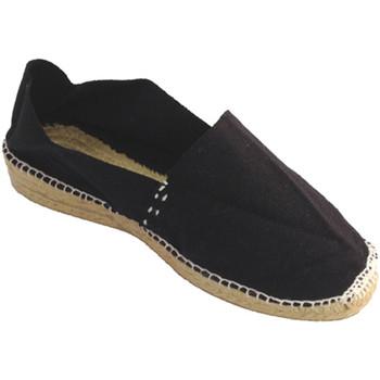 Sapatos Mulher Alpargatas Made In Spain 1940 Alpercatas esparto baixo cunha em Made p negro