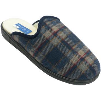 Sapatos Homem Chinelos Muro Flip-flop pano xadrez sola de borracha d azul
