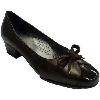 Sapatos Mulher Mocassins Rold?n Couro sapato tipo combinado e couro sapatos baixos em marrom esc marrón