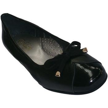 Sapatos Mulher Mocassins Roldán Manoletinas tipo combinado calçados e couro em preto negro
