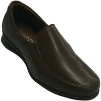Sapatos Mulher Mocassins Pitillos Sapatos com pele de borracha nas laterai marrón