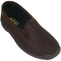 Sapatos Mulher Chinelos Doctor Cutillas Sapatos fechados com lycra elástico nas laterais com dois botonc marrón