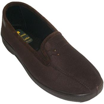 Sapatos Mulher Chinelos Doctor Cutillas Sapatos fechados com lycra elástico nas marrón