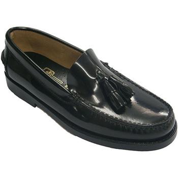 Sapatos Homem Mocassins Edward's Castellanos borlas em preto  em negro