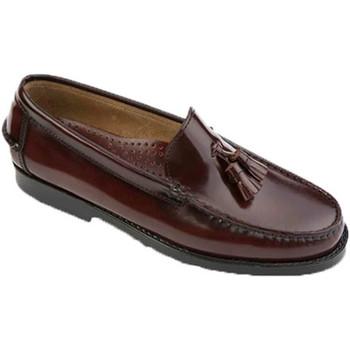 Sapatos Homem Mocassins Edward's Castellanos borlas borgonha  em burdeos