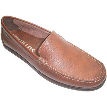 Sapatos Homem Mocassins Pitillos Mocassim liso sapato tipo pá  em marrón