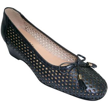 Sapatos Mulher Escarpim Roldán Mulher Shoe manoletinas tipo sopro Wedge enfeite laço  em Azul-m azul