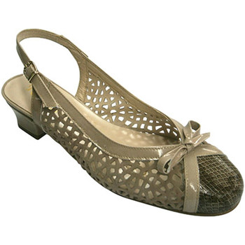 Sapatos Mulher Sandálias Roldán Abrir sapato mulher salto baixo fechado beige