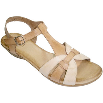 Sapatos Mulher Sandálias Rodri Sandálias mulheres combinada duas cores de pele muito macia plan marrón