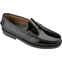 Sapatos Homem Mocassins Edward's Castellanos tamanhos grandes  em negro
