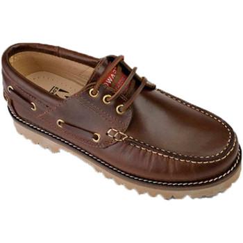 Sapatos Homem Sapato de vela Edward's Homem náutico tamanhos maiores 47-50 Edw marrón