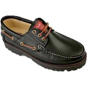 Sapatos Homem Sapato de vela Edward's Homem náutico tamanhos maiores 47-50 Edw negro