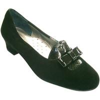 Sapatos Mulher Mocassins Rold?n Mulher sapato antes combinado com aba de couro e malha  em Preto negro